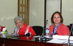 Secretary leonor Briones with ARD Teresita G. Tambagan