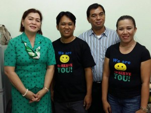 Jinglebert with DepED Director Alberto Escobarte and Davao del Norte Schools Division Superintendent Josephine Fadul and a fellow educator
